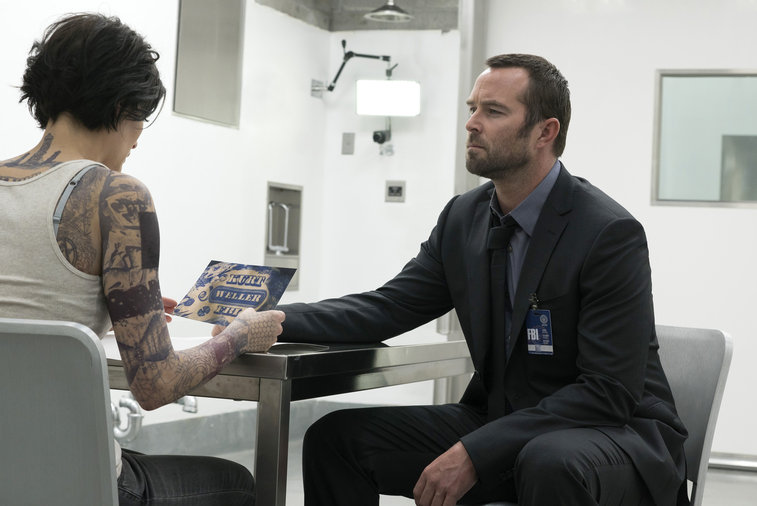 "BLINDSPOT -- ""Pilot"" -- Pictured: (l-r) Jaimie Alexander as Jane Doe, Sullivan Stapleton as Kurt Weller -- (Photo by: Virginia Sherwood/NBC)"