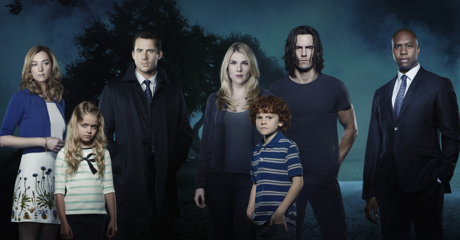 "THE WHISPERS - ABC's ""The Whispers"" star Lily Rabe as Claire Bennigan, Barry Sloane as Wes Lawrence, Milo Ventimiglia as John Doe, Derek Webster as Jessup Rollins, Kristen Connolly as Lena Lawrence, Kylie Rogers as Minx Lawrence, and Kyle Harrison Breitkopf as Henry Bennigan. (ABC/Bob D'Amico)"